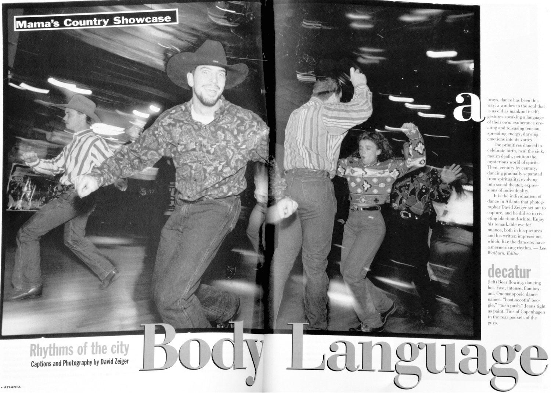 Atlanta Magazine Body Language page